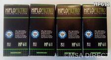BMW G450X (2009 to 2012) HifloFiltro Oil Filter (HF611) x  4 Pack
