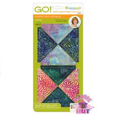 """Accuquilt GO! Fabric Cutting Die 4"""" Quarter Square Quilting Sewing 55047"""