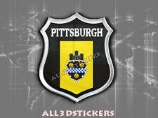 Pegatina Emblema 3D Relieve Bandera Pittsburgh - Todas las Banderas del MUNDO