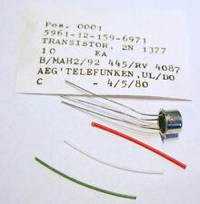 Pair coppia AEG - Telefunken 2N1377 Nuovi Nos sealed. Germanium Germanio