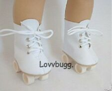 """White Roller Skates for American Girl 18"""" 18 inch Doll Shoe Boots Maryellen"""