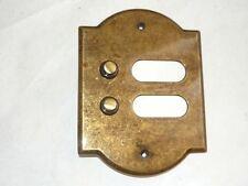 Campanello Campanella campana pulsantiera in ottone 2 pulsanti