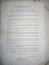 I749-PERIODO NAPOLEONICO-FERMO-DENUNCIA OBBLIGATORIA ALBERGATORI