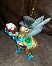 Rare Whimsical Mark Roberts Collection Top Hat Wearing Cricket Ornament Retired