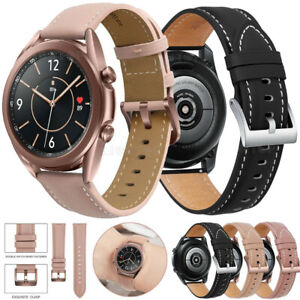 Genuine Leather Watch Band Strap For Samsung Galaxy Watch 46mm 42mm S3 Active 2
