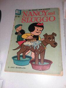 Nancy and Sluggo #175 dell comics 1960 early peanuts 1st print charlie brown