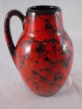 Vintage 60er 70er SCHEURICH Ceramics Vase 414-16 Fat Lava Roth Age Space Age