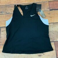Nike Court womens Maria Slam Tank top shirt sleeveless brand new size large blac