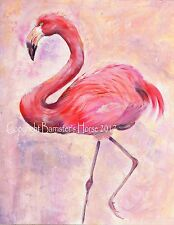 FLAMINGO, ACRYLIC FINE ART/GICLEE PRINT, WALL ART, PAINTING, PICTURE, BIRD