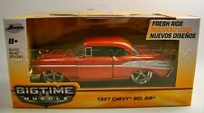 1957 '57 CHEVY CHEVROLET BEL AIR BIGTIME MUSCLE FRESH RIDE 1:32 DIECAST JADA