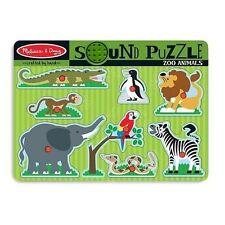 Melissa & Doug Zoo Animals Sound Puzzle 8pce