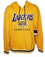 $75 Mens NBA Los Angeles Lakers Basketball Hoodie Gold Purple Kobe Size L  NWT