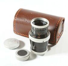 Paillard Bolex 36mm f2.8 Kern Yvar D-Mount Lens For 8mm Movie Cameras
