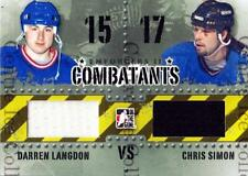 2013-14 ITG Enforcers Combatants Jersey #29 Darren Langdon, Chris Simon