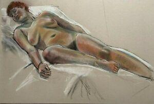 LARGE RETRO NUDE STUDY of a LADY circa 1970 / 1980 - ARTISTS STUIO SALE