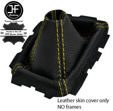 YELLOW STITCH PERFORATED LEATHER GEAR GAITER FOR MAZDA MX-5 MIATA NA MK1 89-98