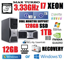 INTEL CORE I7-950 3.33GHz (8 PROCESSOR) SYSTEM w/12GB RAM✓128GB SSD✓1TB✓WINDOWS