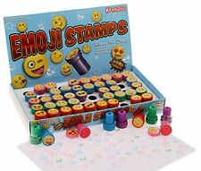 50 Count Emoji Stampers Plastic Colorful Stamps Party Favors Kids