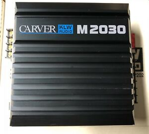 New Old School Carver KLW Audio M-2030 2 Channel Amplifier,NOS,NIB,SQ