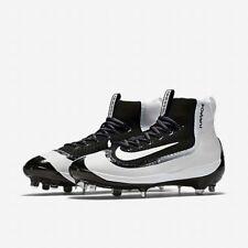 Nike Air Huarache 2KFilth ELITE Mid Baseball Cleat Metal 13 Black White 749359