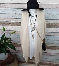 Size Small Cotton On Knit Wear Open Cardigan Natural Bone Beige
