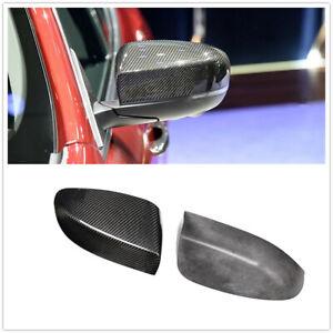 For Maserati Ghibli Quattroporte Sedan Carbon Fiber Mirror Cap 2017 2018+ MO