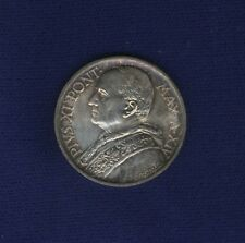 VATICAN  PIUS XI  1935 AN. XIV 5 LIRE SILVER COIN, CHOICE UNCIRCULATED