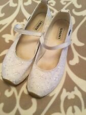 Lacoste Embroidered White Ballerina Style Shoes Size UK 8