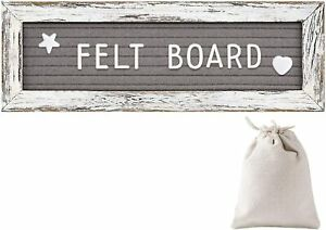 Tukuos Felt Letter Board With Rustic Wood Frame