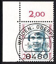 32) Berlin 20 Pf. Frauen  811 Eckrand Ecke 1 E1 EST Weiden mit Gummi selten!!