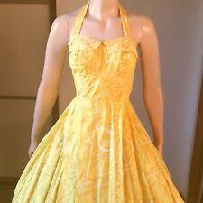 1950s Vintage Sun Fashions Hawaiian Halter Style Dress 25W