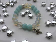 Damenarmband Armband Edelsteine handgefertigt Weihnachten Winter Jade Mondstein