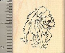 Christmas Labrador Retriever rubber stamp H10108 WM hat