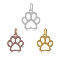 10pcs 304 Stainless Steel Pendant Dangle Charm DOG PAW DIY Jewelry Finding 13mm