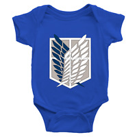 Infant Baby Bodysuit Romper Clothes Jumpsuit Print Attack on Titan Survey Corps