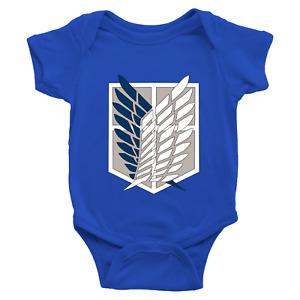 Infant Baby Bodysuit Romper Clothes Jumpsuit Print Attack on Titan Survey Corps