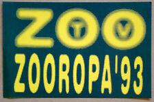 Original U2 1993 ZOO TV / ZOOROPA Tour BAND EQUIPMENT CASE STICKER Decal /UNUSED