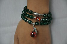 Green Agate  Bracelet / Necklace Beads