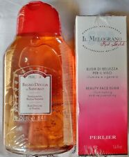 Perlier Sandalwood Bath & Shower Gel 8.4 oz + Bonus Beauty Face Elixir Sealed
