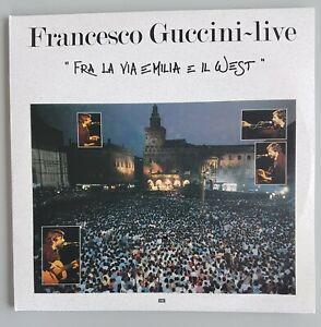 Francesco Guccini Live doppio Fra la via Emilia e il West lp vinile ristampa180g