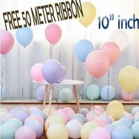 """10"""" INCH Pastel Balloons Helium & Air Quality Ballons COLOURS Baloons Birthday"""