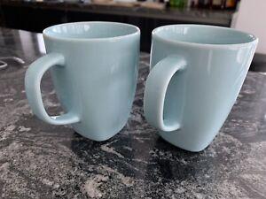 2 x Ikea 365+ Susan Pryke Design Teal Turquoise Blue Mugs 4th Set Of 4 Avail.