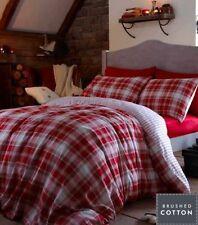 Lenzuola e federe rosso Catherine Lansfield 100% Cotone