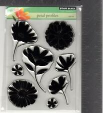 New Penny Black Rubber Stamp clear set Petal Profiles Flowers free Usa ship