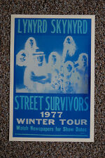Lynyrd Skynyrd Concert Tour Poster 1977 Street Survivor (Blue version)