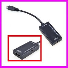 MHL Micro USB to HDMI HDTV Adapter For Samsung Galaxy S2 Nokia LG Android FH