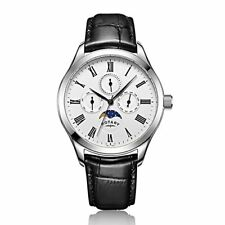 BRAND NEW Rotary Men's Moon-phase White Dial Chronograph Quartz Watch GS00650/01