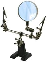 Third Hand Clamp Tool with Magnifier cast iron base DURATOOL