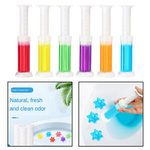 Toilet Clean Fresh Gel Flower Shaped Toilet Cleaning Deodorize Stamp Automatic