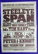More details for steeleye span tour programme, all around my hat, 1976